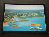 BROOME WESTERN AUSTRALIA AERIAL VIEW TOWN AND MANGROVES 2002 - POSTCARD