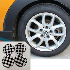 Checkered UK 3D Metal Car Truck Wheel Center Hub Cap Sticker Emblem Decal 56mm