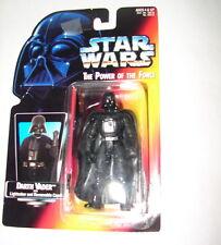 Star Wars POTF Darth Vader LS long saber Orange Card 1995 MOC ANH ESB ROTJ   615