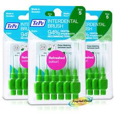 3x TePe 0.8mm VERDE Interdentali Brush Size 5 facile da pulire tra i denti Confezione da 6