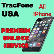 USA TracFone Premium UNLOCK SERVICE iPhone 4 4s 5 5c 5s 5c 6 6+ 6s 6s+ SE  7 7+