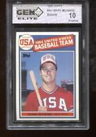 Mark McGwire RC 1985 Topps #401 Rookie GEM Elite 10 Pristine