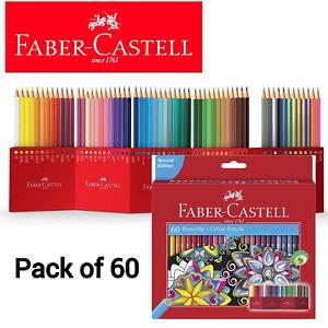 Premium Faber-Castell Colour Pencils Bright Luminous Classic Hexagonal Shape x60