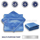 Heavy Duty Tarp Poly Tarpaulin Canopy Tent Car Boat Reinforced Resistant Cover