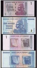 ZIMBABWE /Simbabwe: 1 $ & 100 TRILLION BANKNOTE TRILLIONEN (= 100 BILLIONEN) UNC