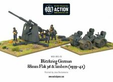 Bolt Action German Blitzkrieg 88mm Flak 36 & limbers metal Warlord Games