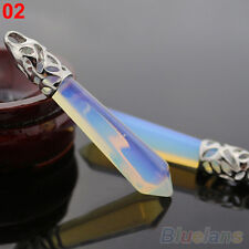 REIKI HEALING POINT NATURAL CRYSTAL QUARTZ STONE PENDANT PENDULUM FOR NECKLACE