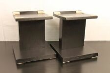 Two New Solid Oak Handmade Large Audio Speaker Stands 13 Inches High