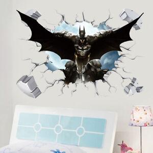 Batman in Wall Crack Kids Boy Bedroom Decal Art Sticker Gift Superheroes  UK