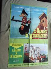 """LOCANDINA CINEMA """"Il Barone Di Munchausen"""" Sampaolofilm"""