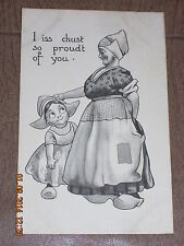 Vintage postcard S112 I iss chust so proudt of you 11/13/ 1912 Made in USA