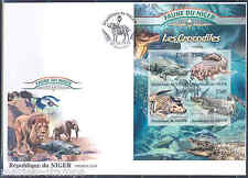 NIGER 2013 FAUNA OF AFRICA  CROCODILES   SHEET FIRST DAY COVER