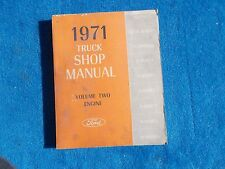 1971 Ford Truck Volume 2 Engine Gas & Diesel Repair Shop Manual Nice Used