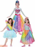 Filles Officiel Barbie Rainbow Magic Princess Fancy Dress Costume Outfit 3-10yrs