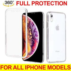 For iPhone X XR XS-Max 360° Full Bumper Heavy Duty Shockproof Clear Case Cover
