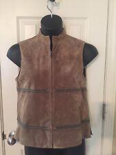 Jones New York Country light brown suede leather vest / women's 4