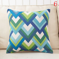 #6 Geometry Linen Pillow Case Throw Cushion Car Sofa Pillow Cover Christmas Gift