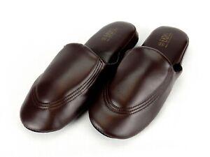 Men's  House Slippers Soft Vinyl Upper, Closed Toe Open Back Comfortable EasyUSa