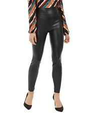 Leggings Women's INC International Concepts High Rise Faux Leather Black Sz 6