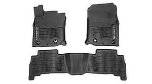 LEXUS GX460 2017-2021 3PCS BLACK ALL WEATHER FLOOR LINERS PT908-60170-02