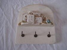 Porte clés en plâtre déco maison en relief