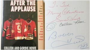 Gordie & Colleen Howe & Bobby Hull Signed After The Applause HC Book Red Wings