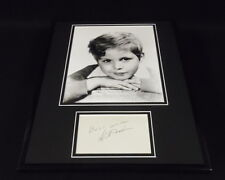 Dickie Moore Signed Framed 11x14 Photo Display JSA Our Gang