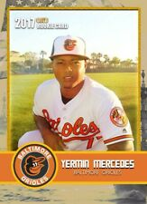 YERMIN MERCEDES 2017 FIRST EVER PRINTED GOLD ROOKIE GEMS ROOKIE CARD ORIOLES!