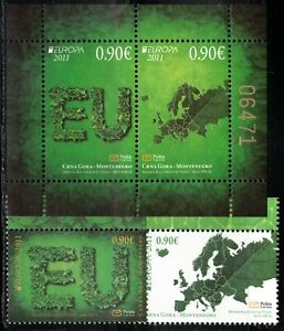2011 Montenegro Europa CEPT Forests MNH set + s/s