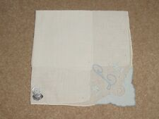 Vintage Madeira Embroidered Handkerchief