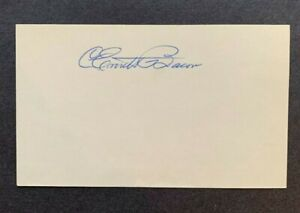 Everett Ev Bacon (d.89) College Football HOF Signed Autographed 3x5 Index Card