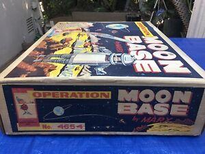 "1963 Marx ""OPERATION MOON BASE"" Play Set 4654. Complete, Museum Quality. NIB"