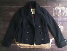 Abercrombie & Fitch Peacoat XL Girls Coat Kids Navy Blue Jacket Double Breasted