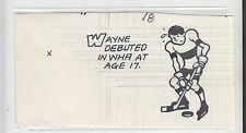 1979-80 TOPPS ORIGINAL CARD BACK ART WAYNE GRETZKY ROOKIE EDMONTON OILERS # 18
