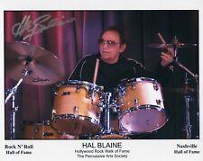 HAL BLAINE HAND SIGNED 8x10 COLOR PHOTO+COA      WRECKING CREW HOF DRUMMER