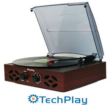 TechPlay Odc15 Record Player Turntable Retro Classic 3 Speed Wood Fm Radio