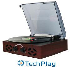 TechPlay ODC15 Record Player Turntable Retro Classic 3 Speed Wood FM Radio