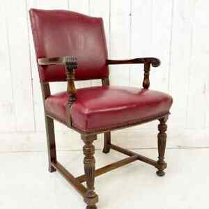 Early 20th Century Antique Library Chair