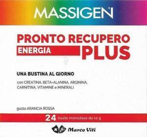 4x Massigen Pronto Recupero Energia Plus - 26+26+26+26 buste