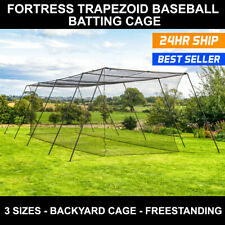 FORTRESS Baseball Batting Cage [3 Sizes] | Baseball Softball Hitting Tunnels