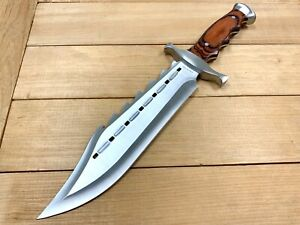 """15""""Wood Tactical Combat Fixed Blade Bowie Knife w/ Sheath Rambo Hunting Survival"""