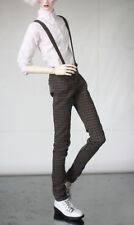 British Plaid Overalls Pants for Bjd 1/4 MSD,1/3,SD17 Uncle  Doll Clothes CMB96