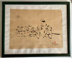 Vintage Tableau Encre Chine Chinois Picture Chinese Indian Ink Bilder Quadro