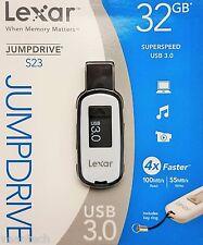 Lexar Jumpdrive S23 32GB USB 3.0 Stick 100MB/S Lesen_55MB/S Schreiben NEU&OVP
