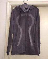 Lululemon Purple Heathered Gray Hoodie Stride Jacket Women's Size 8 Rare
