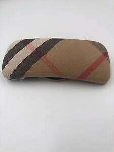 BURBERRY Nova CHECK Fabric HARD Clamshell GLASSES CASE ONLY