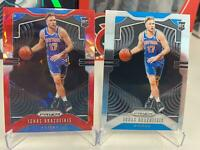 PANINI PRIZM NEW YORK KNICKS IGNAS BRAZDEIKIS RED ICE AND BASE RC