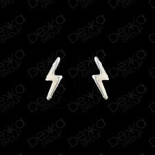 925 Sterling Silver Mini Lightning Bolts Stud Earrings Girls Children Women Men
