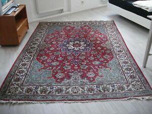 handgeknüpfter Teppich Iran Täbriz blau -2,88 x 1,95 M Liefern möglich GER AT CH
