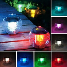 Swimming Pool Solar Power LED Light Outdoor Garden Lawn Pathway Landscape Lamp